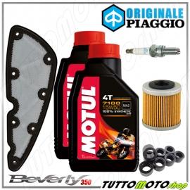 TAGLIANDO OLIO MOTUL FILTRO PIAGGIO BEVERLY 350 SPORT TOURING 11-14 / 16-18 ABS