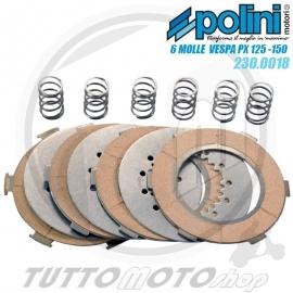 POLINI SERIE 4 DISCHI FRIZIONE RACING 7 MOLLE VESPA PE PX 200 - T5
