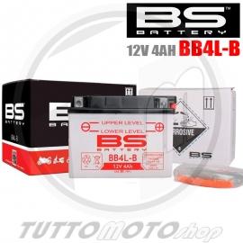 BATTERIA BS BB4L-B / YB4L-B 12V 4AH CON ACIDO SCOOTER 50