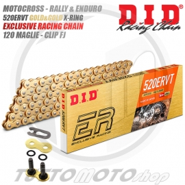 CATENA ORO 120 MAGLIE DID ERV3 PASSO 520 OFFROAD & ROAD RACING X-RING 520ERV3